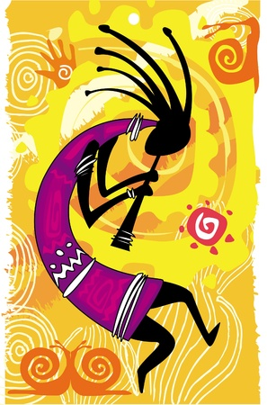 ethnic mix: Dancing figure Illustration
