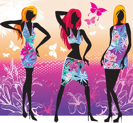 Summer women Stock Vector - 9745295