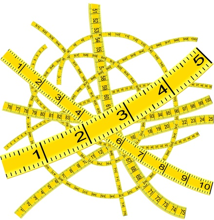 waist weight: Measuring tape