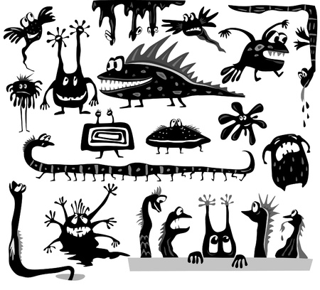 Set of cartoon monsters Stock Vector - 9929744