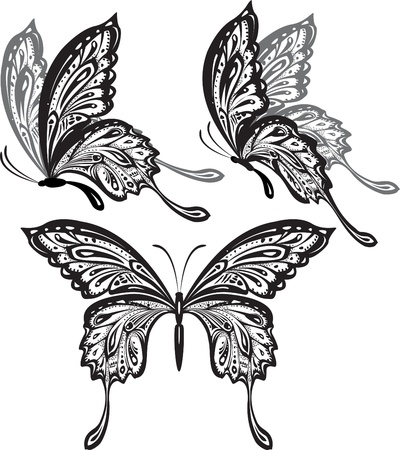 butterfly tattoo: Mariposas Vectores