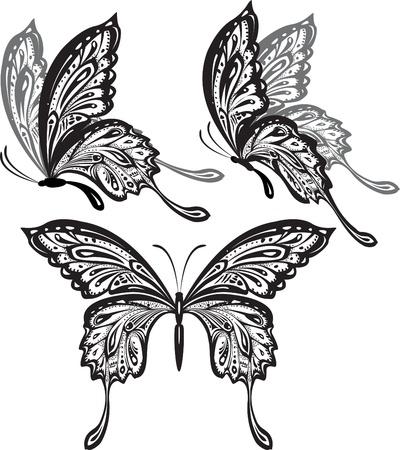 tatuaje mariposa: Mariposas Vectores