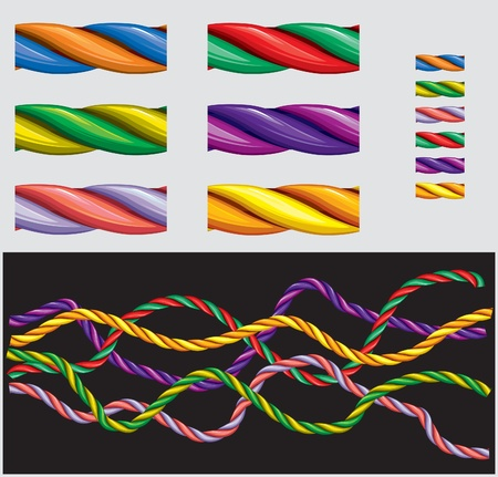 trenzado: Varicolored cuerdas: patr�n temerario