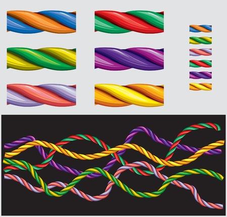 twisted: Varicolored ropes – Pattern Brash
