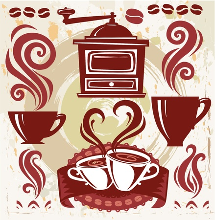 Symbols coffee Stock Vector - 9941902