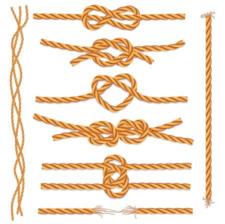 Set van touwen en knopen