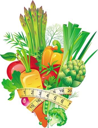 масса: Группа из овощей Иллюстрация