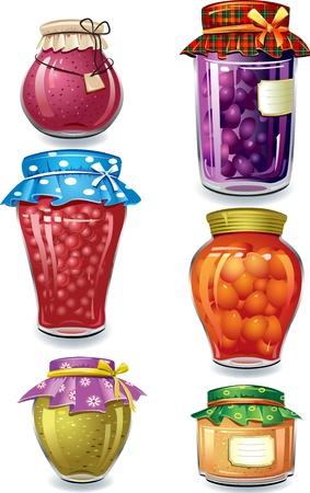 marmalade: Conservato fatti in casa Vettoriali