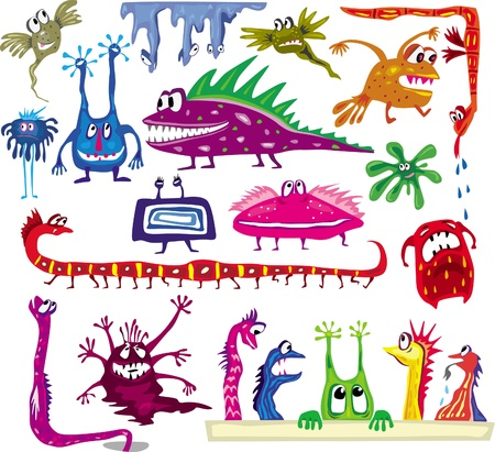 Set of colored cartoon monsters Stock Vector - 10066325