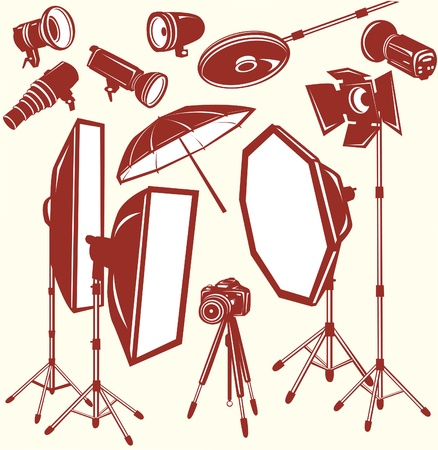 reflectors: Set of studio equipment