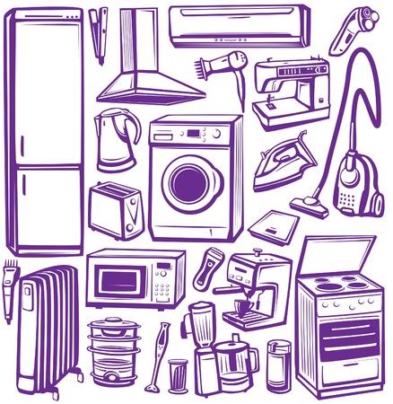 vacuuming: Set di elettrodomestici