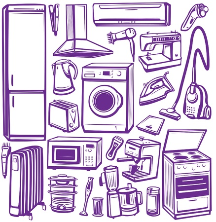 Set of household appliances Stock Vector - 10066327