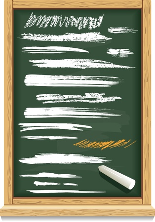 Brush strokes of chalk on a blackboard Stock Vector - 10127450