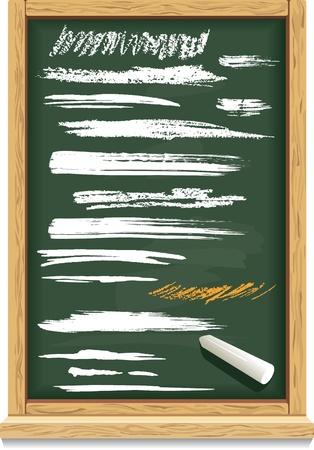 Brush strokes of chalk on a blackboard