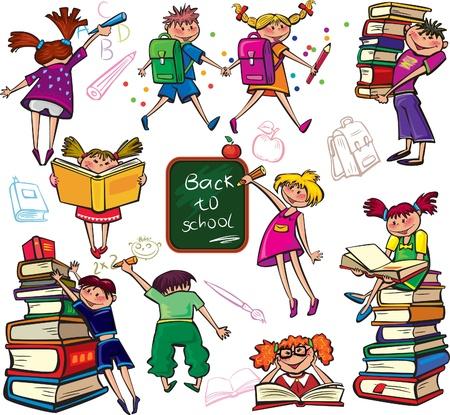 niños leyendo: Vuelta al Cole