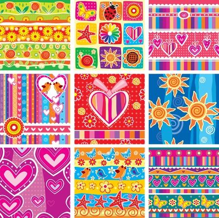 Set of childrens cheerful sticker