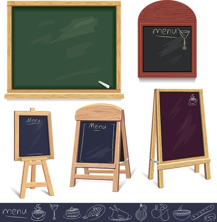 chalkboard menu: Menu boards Illustration