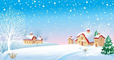 snow scenes: Winter Morning