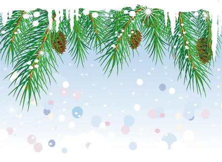 season greetings: Cadre de branches de pin