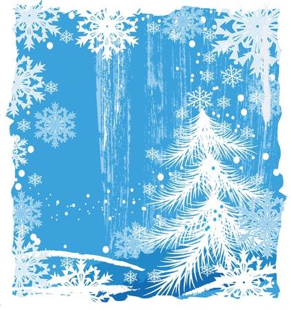Grunge Christmas background Vector