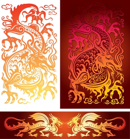 christmas dragon: Golden dragon