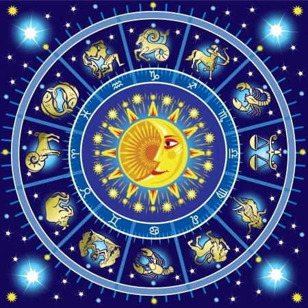 signes du zodiaque: Horoscope cercle Illustration