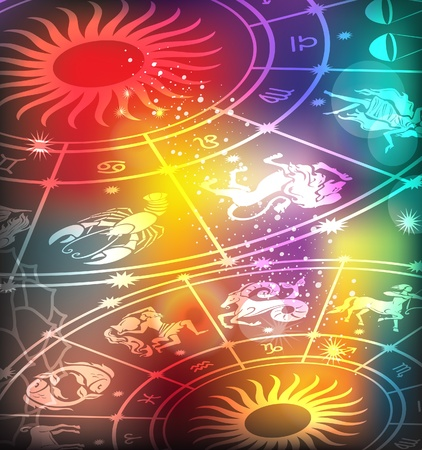 zodiac signs: Horoscope background