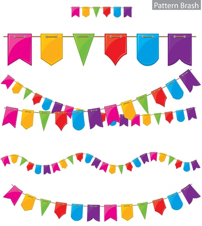 triangle flag: Flag garland