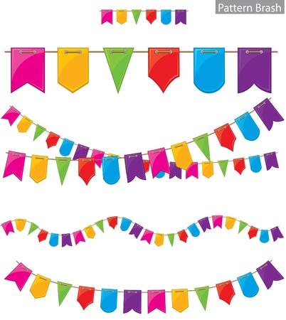 triangle pattern: Flag garland