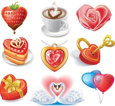 Heart-shaped set Illustration