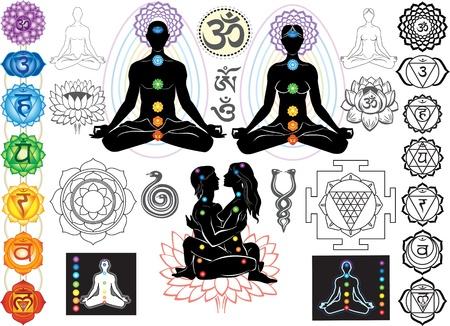 Chakras and esoteric symbols