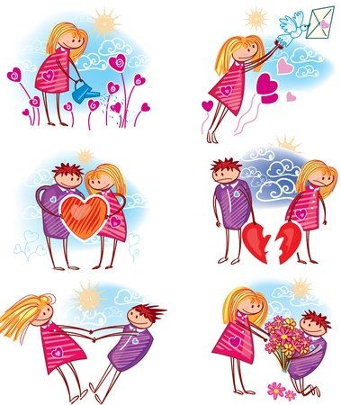 Couple in love Stock Vector - 12156669
