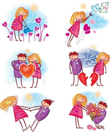 enamorados caricatura: Pareja en el amor