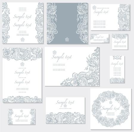 свадебный: Векторный шаблон для свадьбы карт Иллюстрация