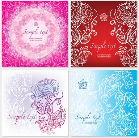 Background with floral ornament Stock Vector - 12472952