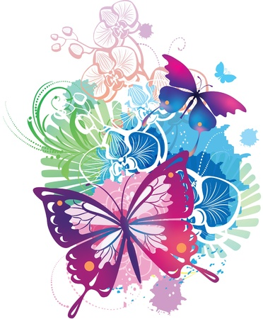 butterfly background: illustration with a butterflies Illustration