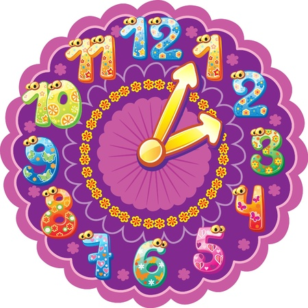 Funny clock for kids