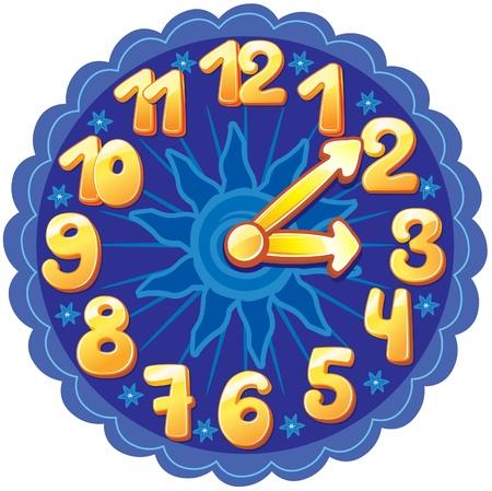 happy hours: Horloge dr�le de bande dessin�e pour les enfants