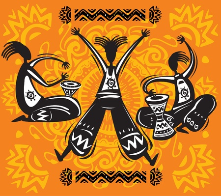aboriginal woman: Dancing figures.eps