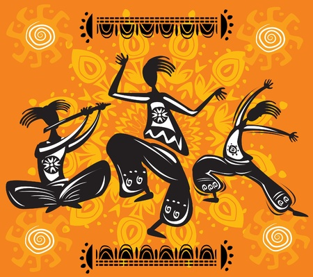 Dancing figures Vector