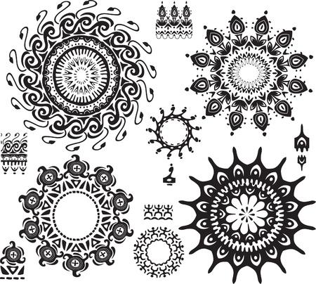 mandala tattoo: Set of ornamental pattern