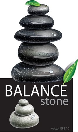 spa stones: Balanced Zen stones Illustration