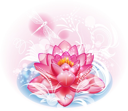 pink lotus: Lotus flower Illustration