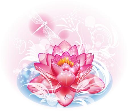 calm water: Lotus flower Illustration