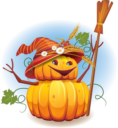 Golden pumkin harvest Иллюстрация