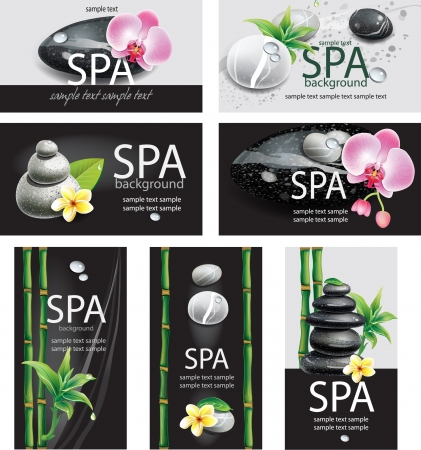 beauty spa: Set of cards for SPA salon