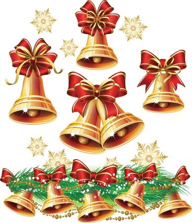 Cloche de Noël Banque d'images - 15866150