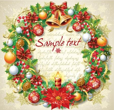 Kerst wreat Stock Illustratie