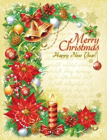 christmas template: Vintage Christmas modello