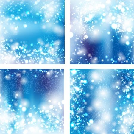 modrý: Sada bokeh světlém pozadí